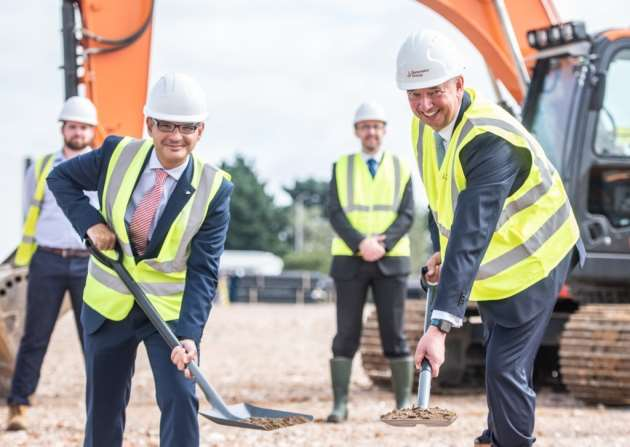 Vote of confidence in Ipswich as work starts on new Futura Park factory